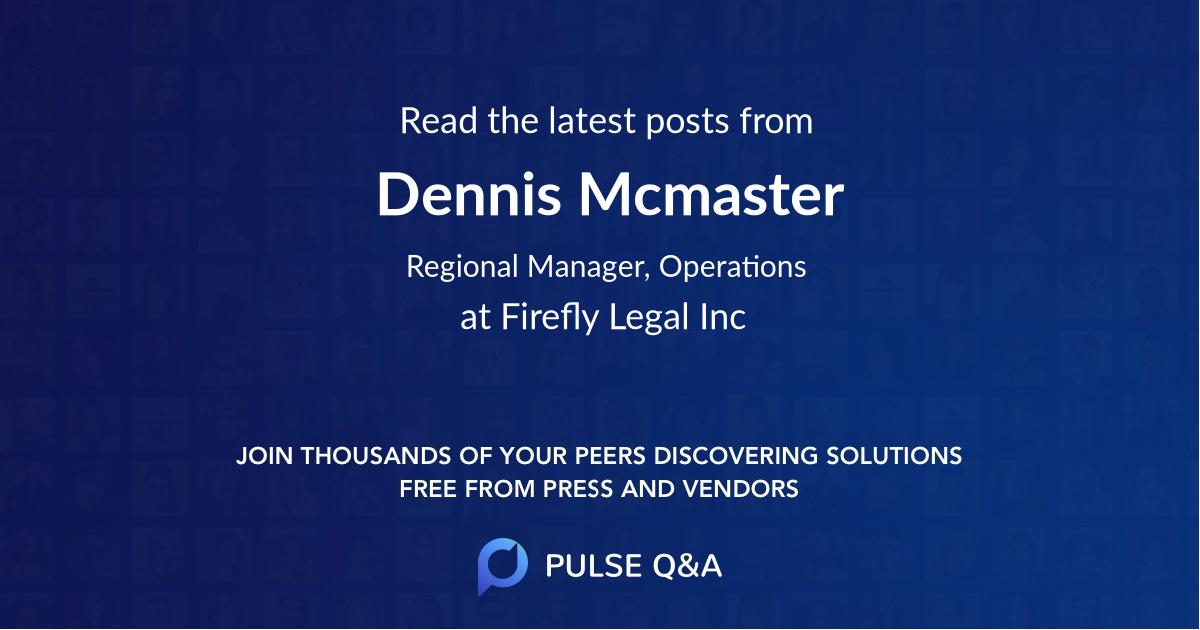 Dennis Mcmaster