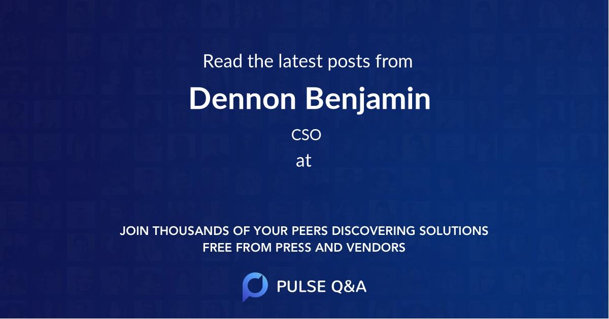 Dennon Benjamin