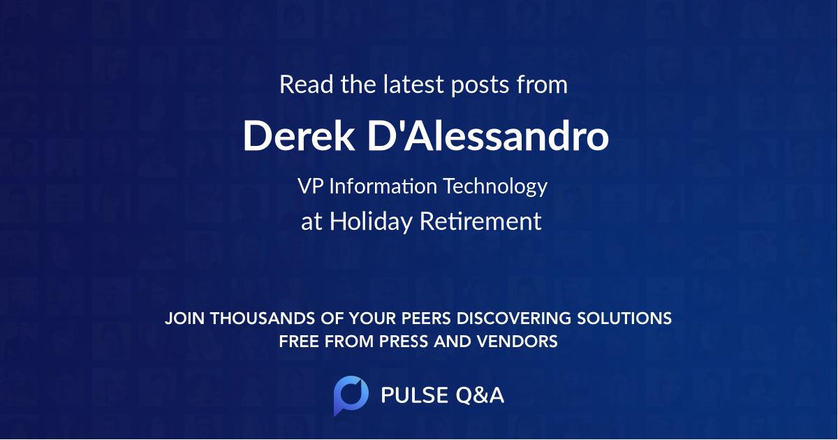 Derek D'Alessandro