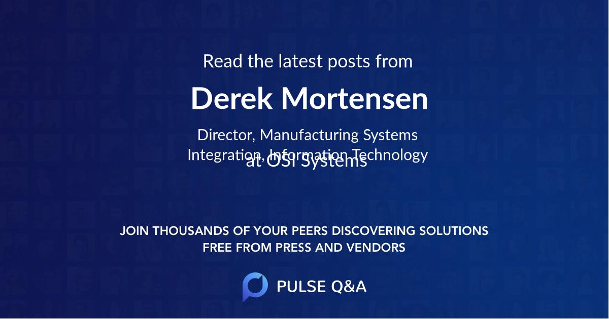 Derek Mortensen