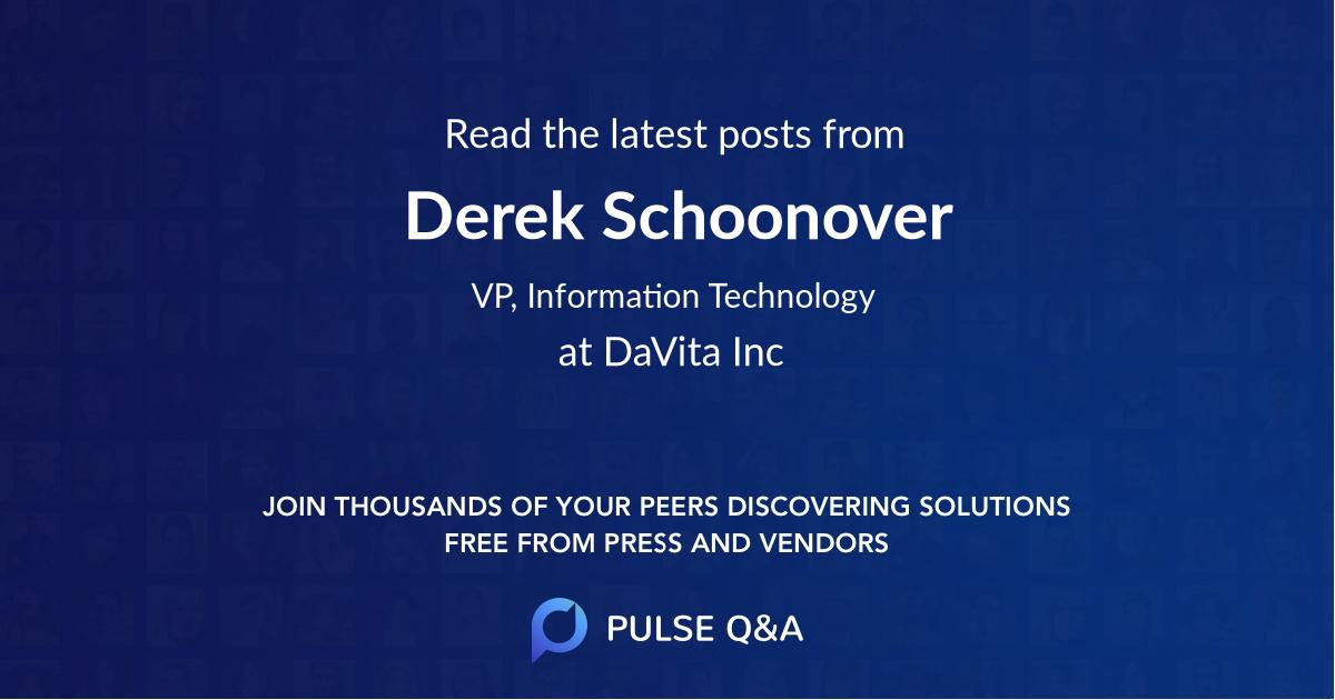Derek Schoonover