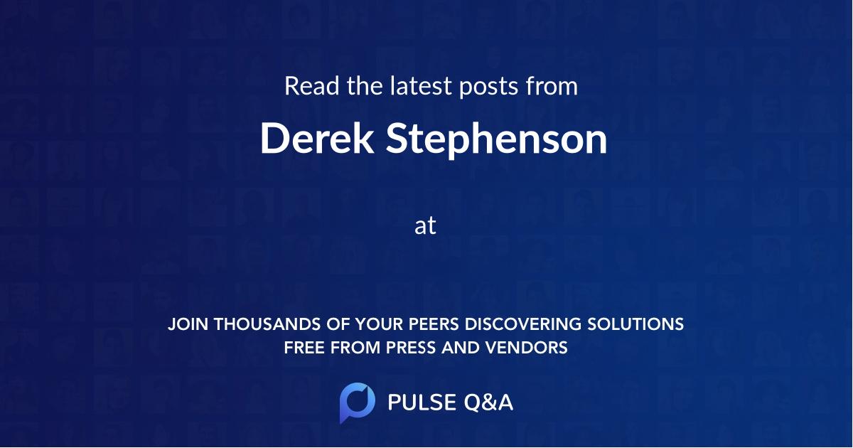 Derek Stephenson