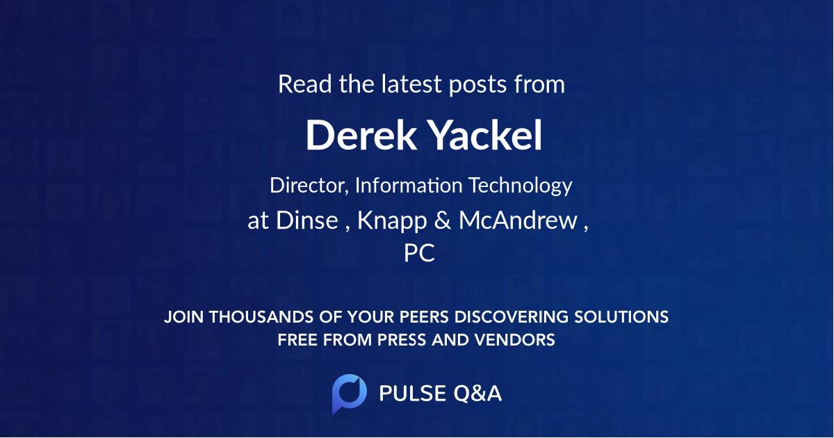 Derek Yackel