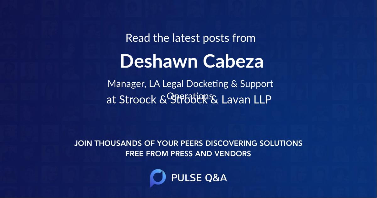 Deshawn Cabeza