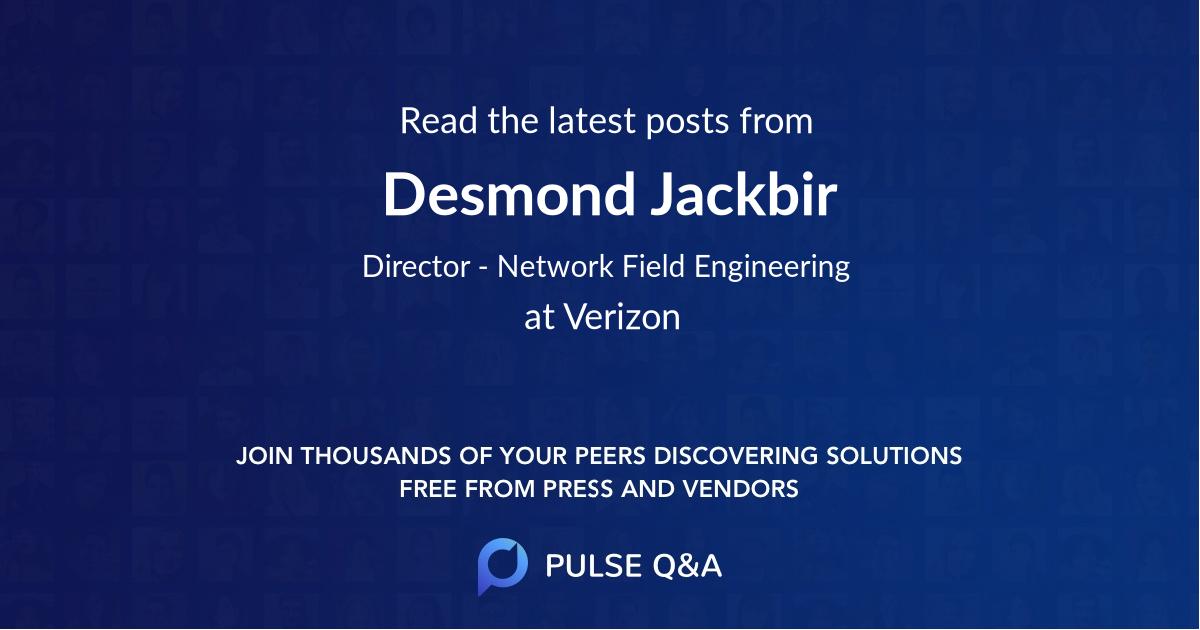 Desmond Jackbir