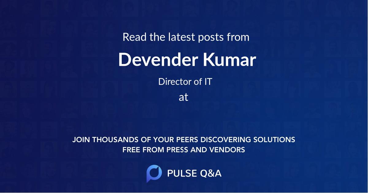 Devender Kumar