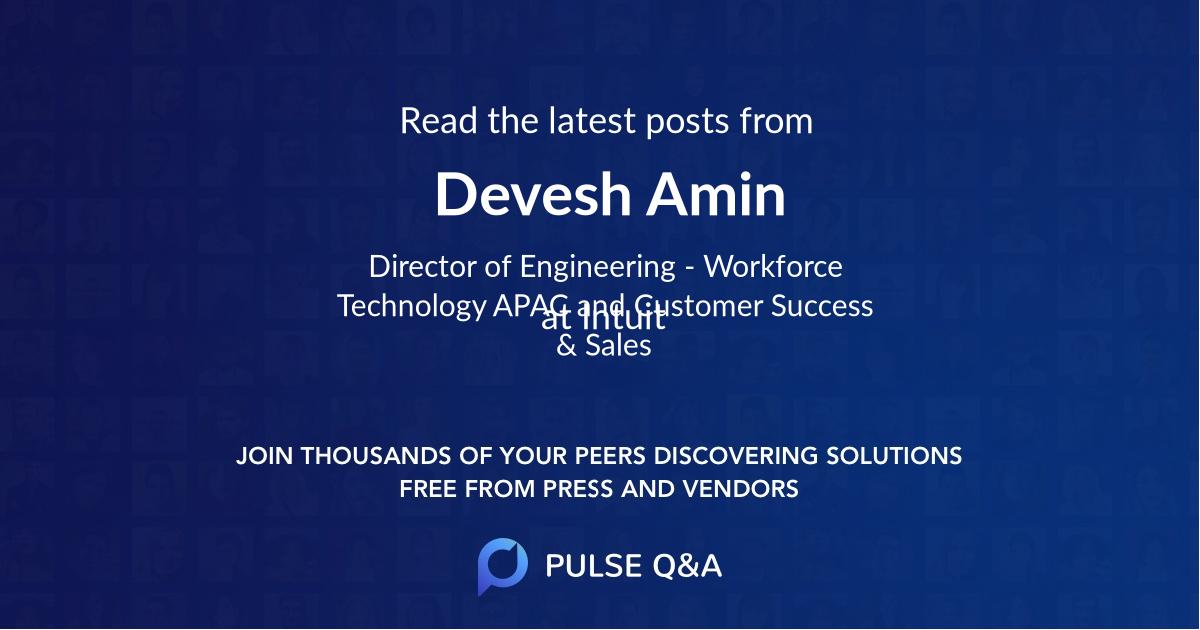 Devesh Amin