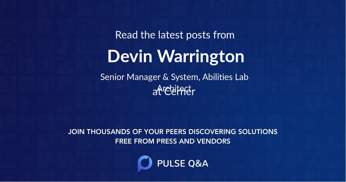 Devin Warrington
