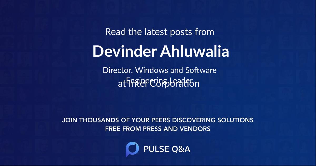 Devinder Ahluwalia