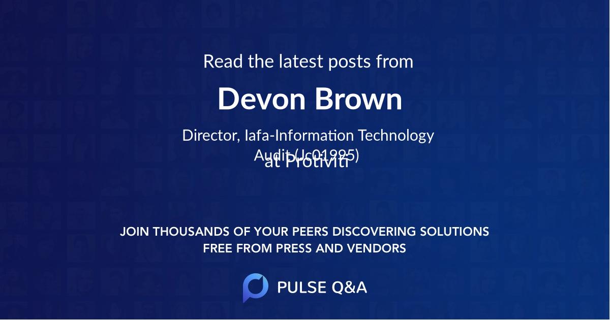 Devon Brown