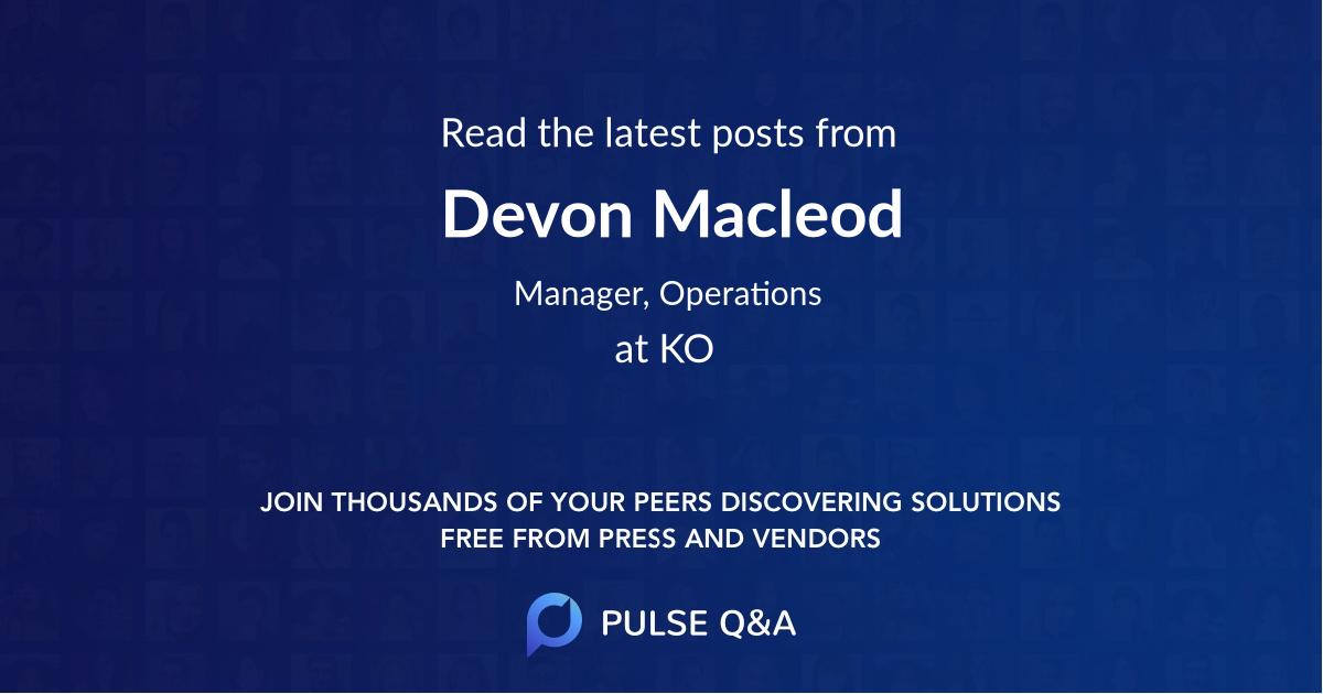Devon Macleod