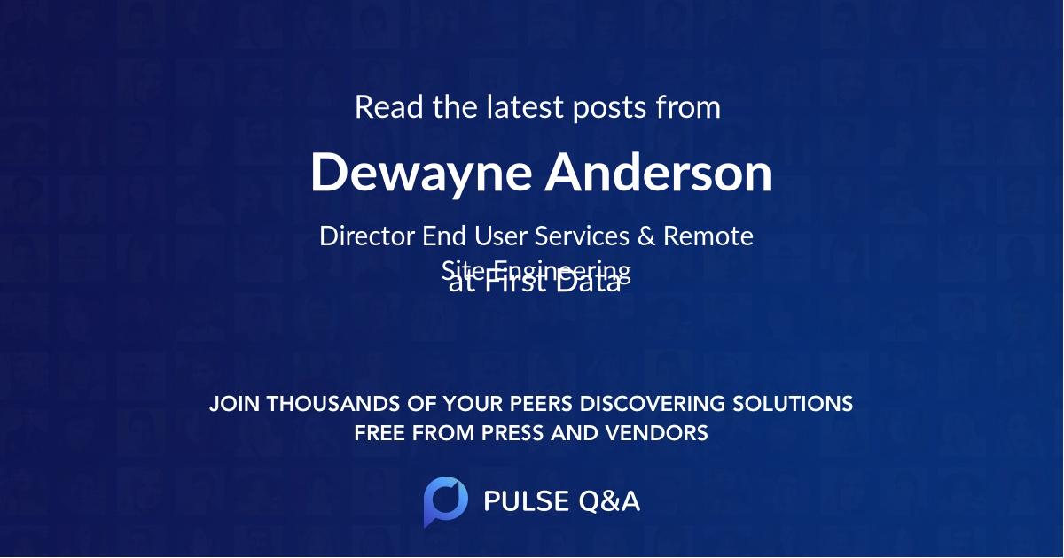 Dewayne Anderson