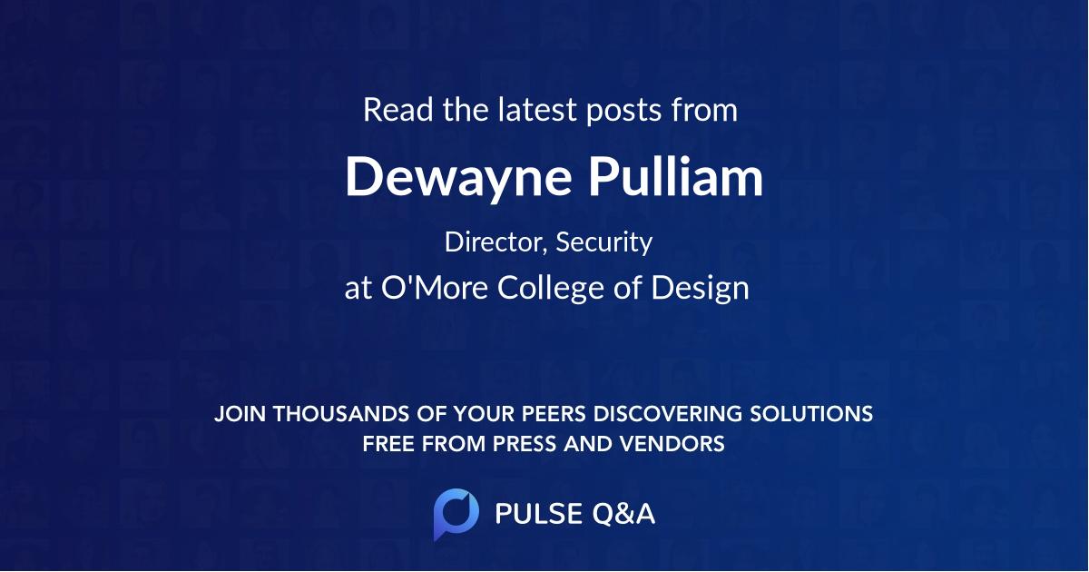 Dewayne Pulliam