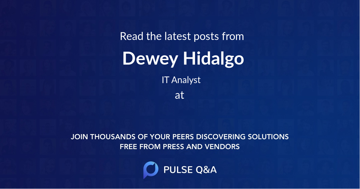 Dewey Hidalgo