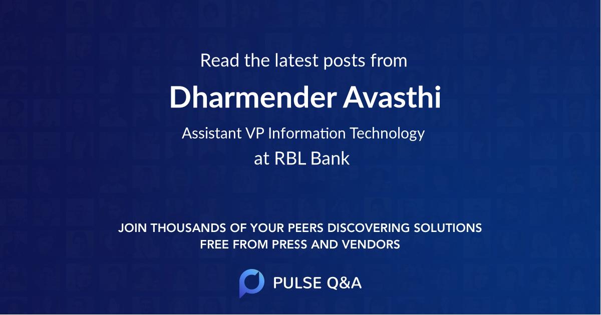 Dharmender Avasthi