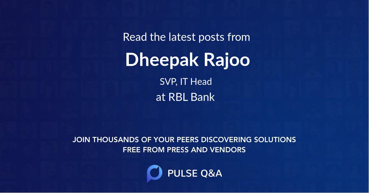 Dheepak Rajoo