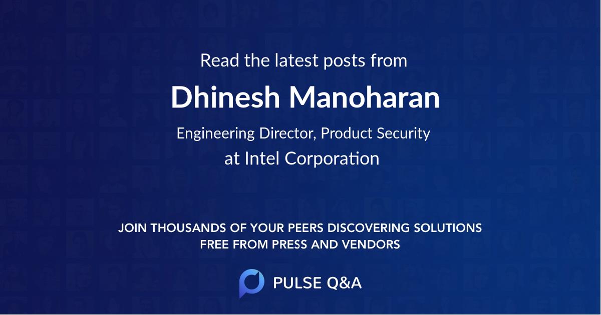 Dhinesh Manoharan