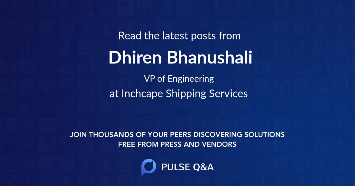 Dhiren Bhanushali