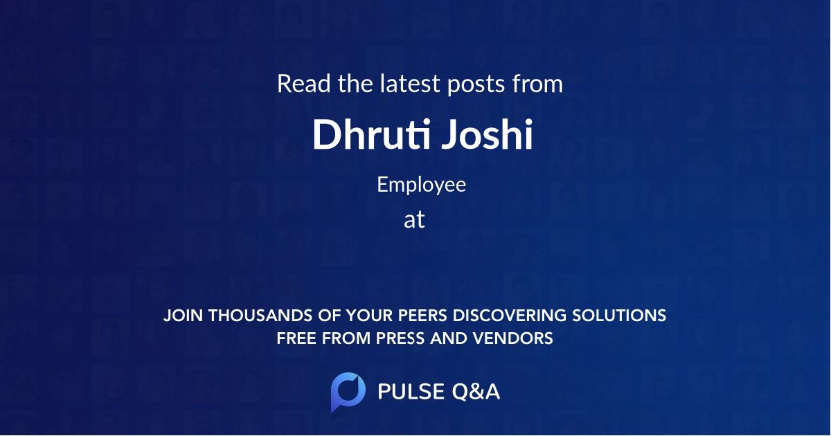 Dhruti Joshi