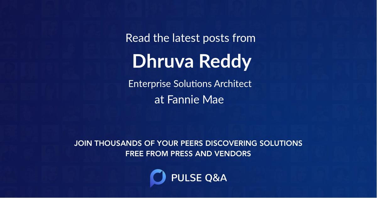 Dhruva Reddy