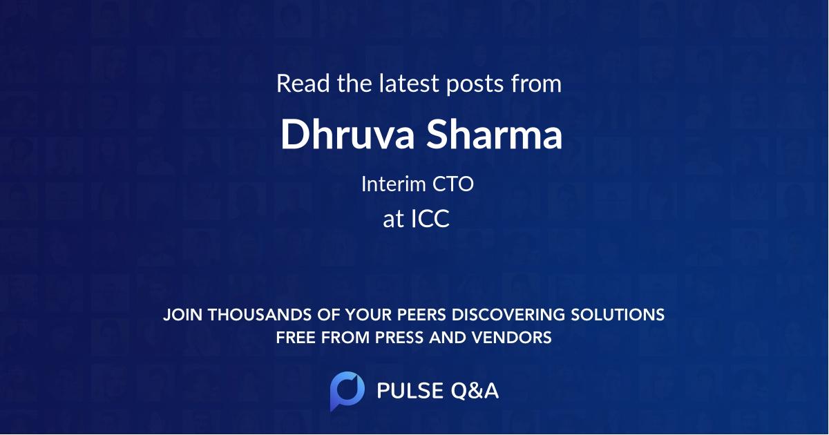 Dhruva Sharma