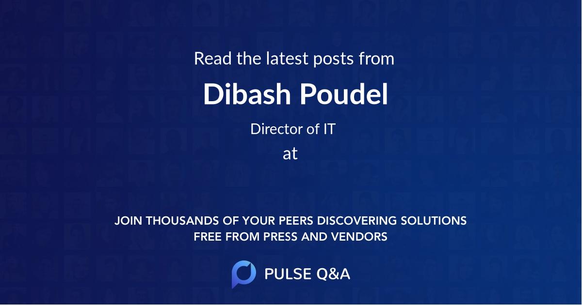 Dibash Poudel