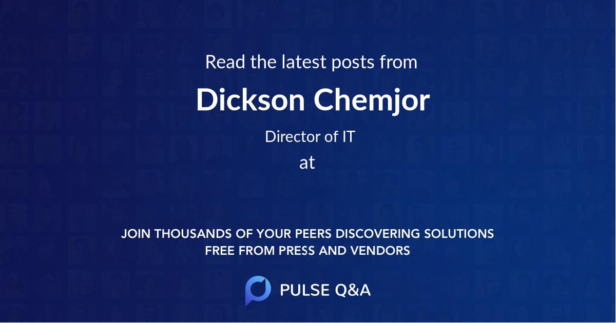 Dickson Chemjor