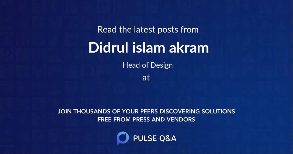 Didrul islam akram