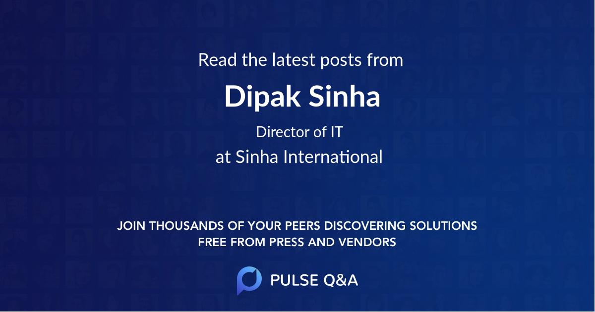 Dipak Sinha