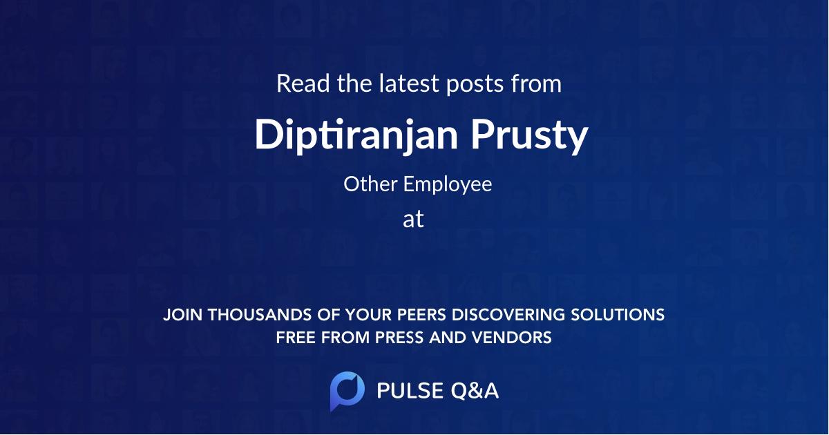 Diptiranjan Prusty