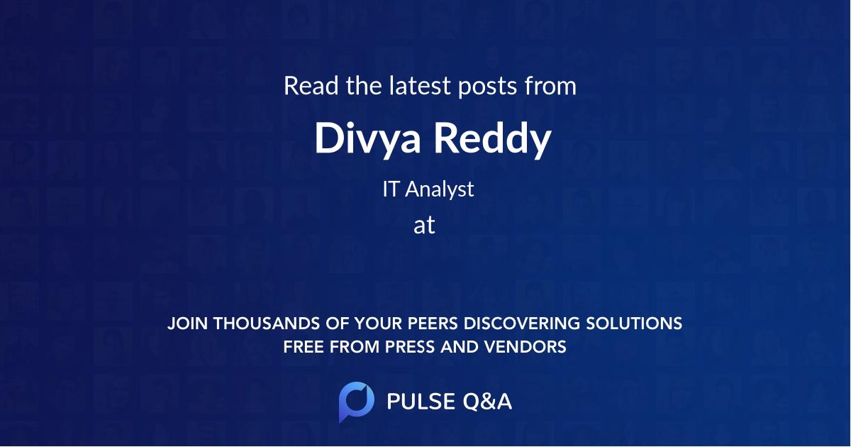 Divya Reddy
