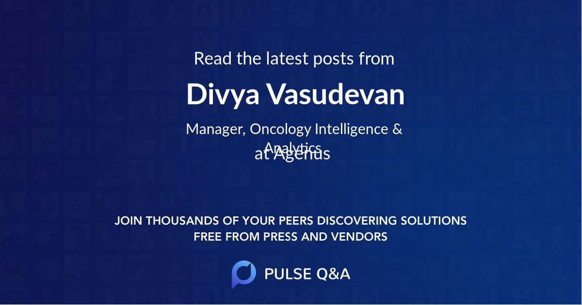 Divya Vasudevan