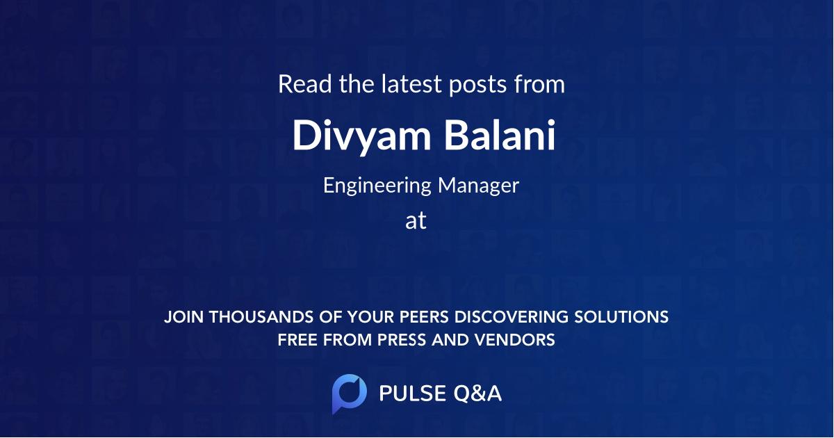 Divyam Balani