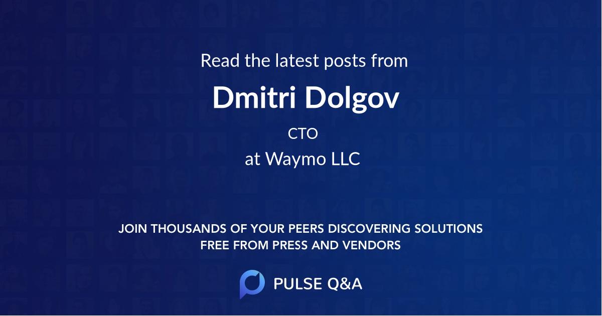 Dmitri Dolgov