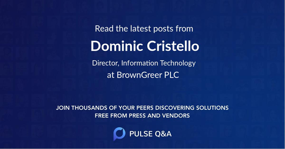 Dominic Cristello
