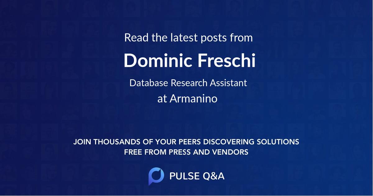 Dominic Freschi