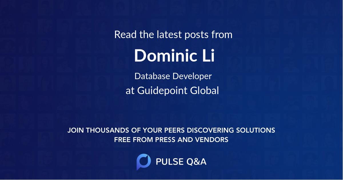 Dominic Li