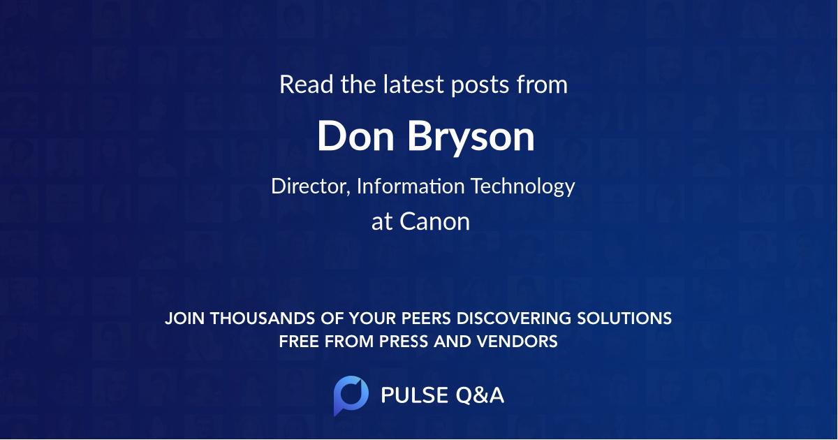 Don Bryson