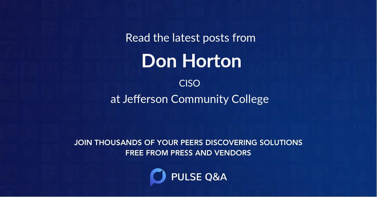 Don Horton