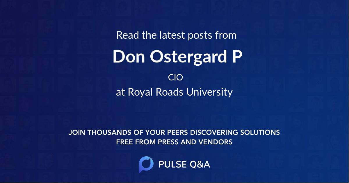 Don Ostergard P.Eng. PMP.
