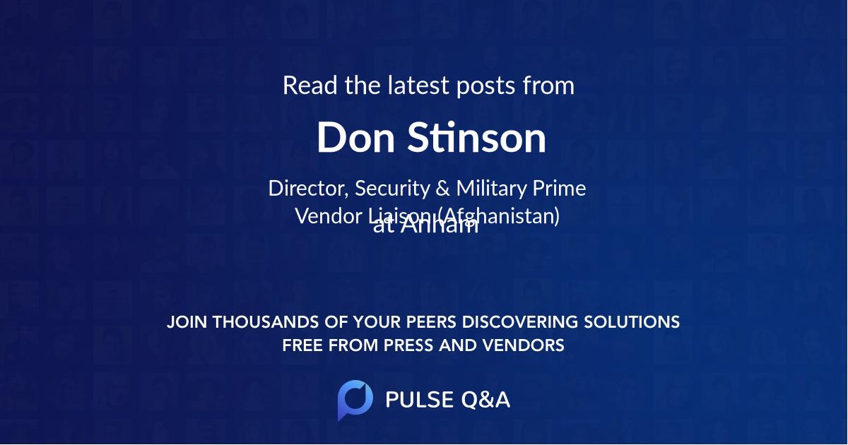 Don Stinson