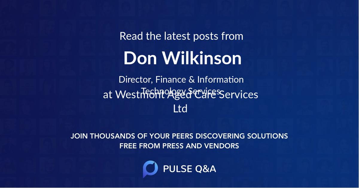 Don Wilkinson
