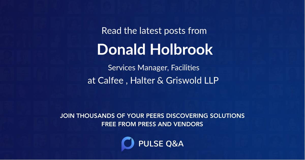 Donald Holbrook