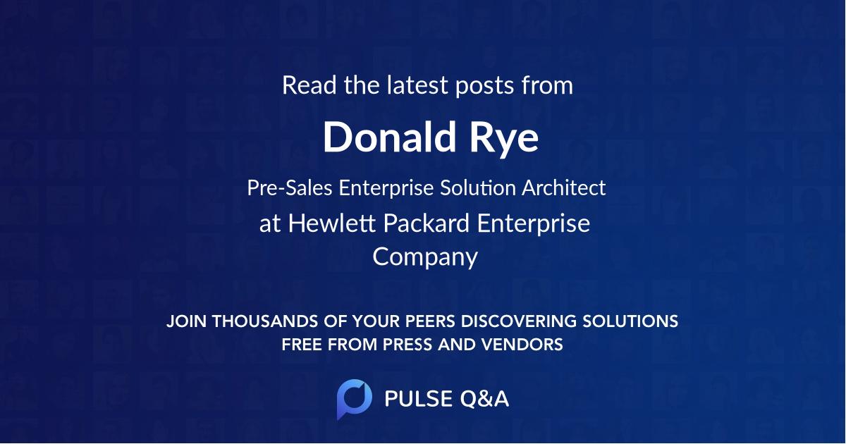 Donald Rye