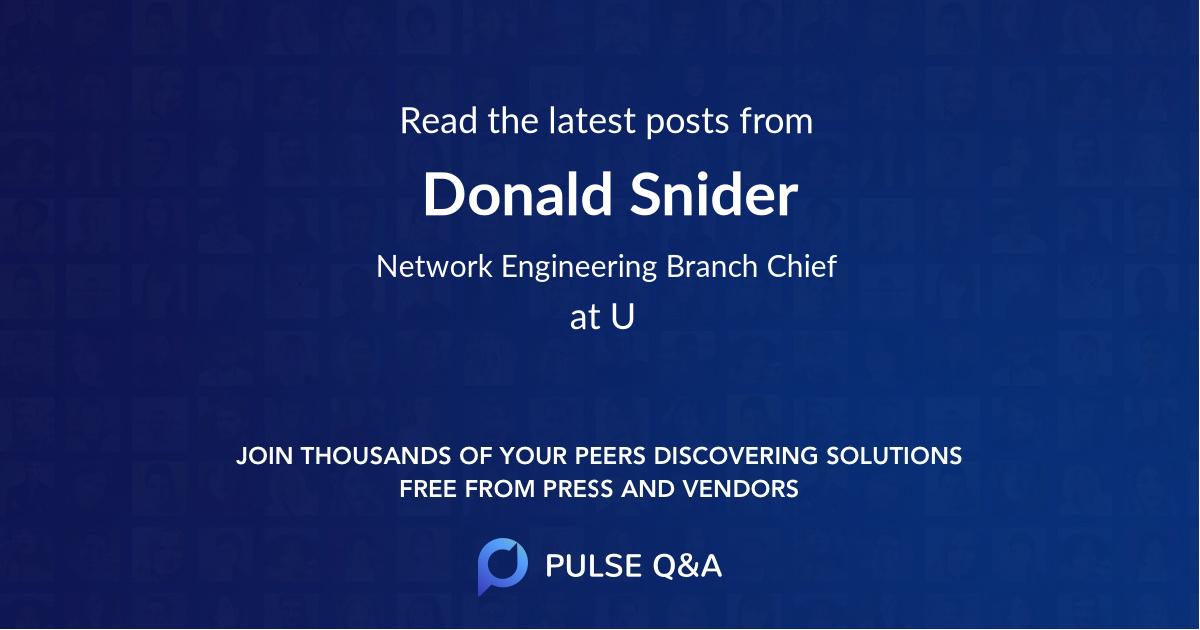 Donald Snider