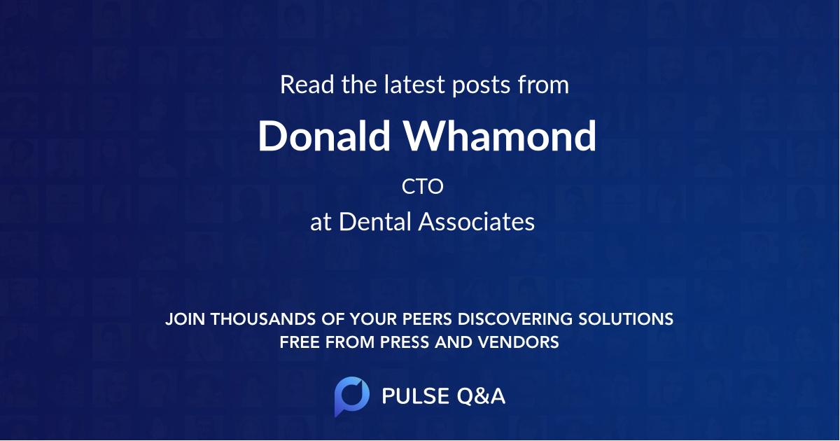 Donald Whamond