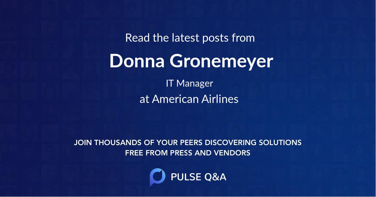 Donna Gronemeyer