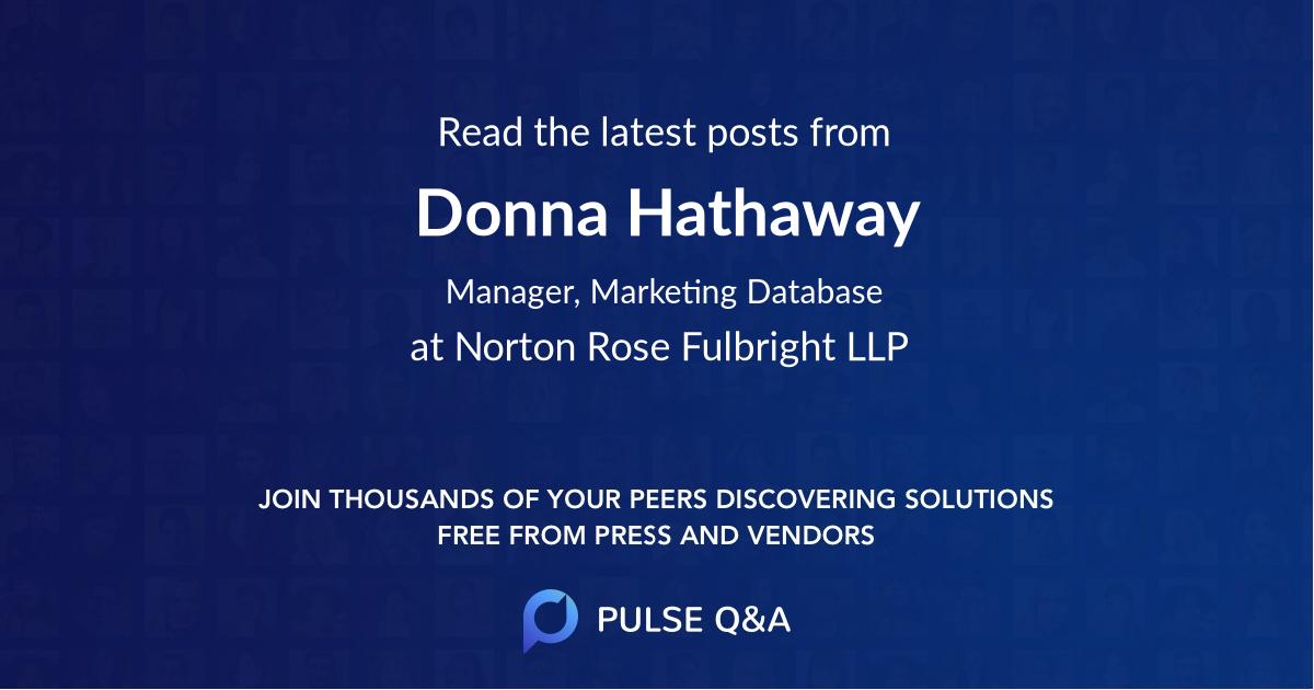 Donna Hathaway