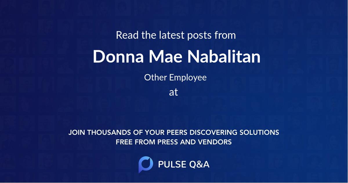 Donna Mae Nabalitan