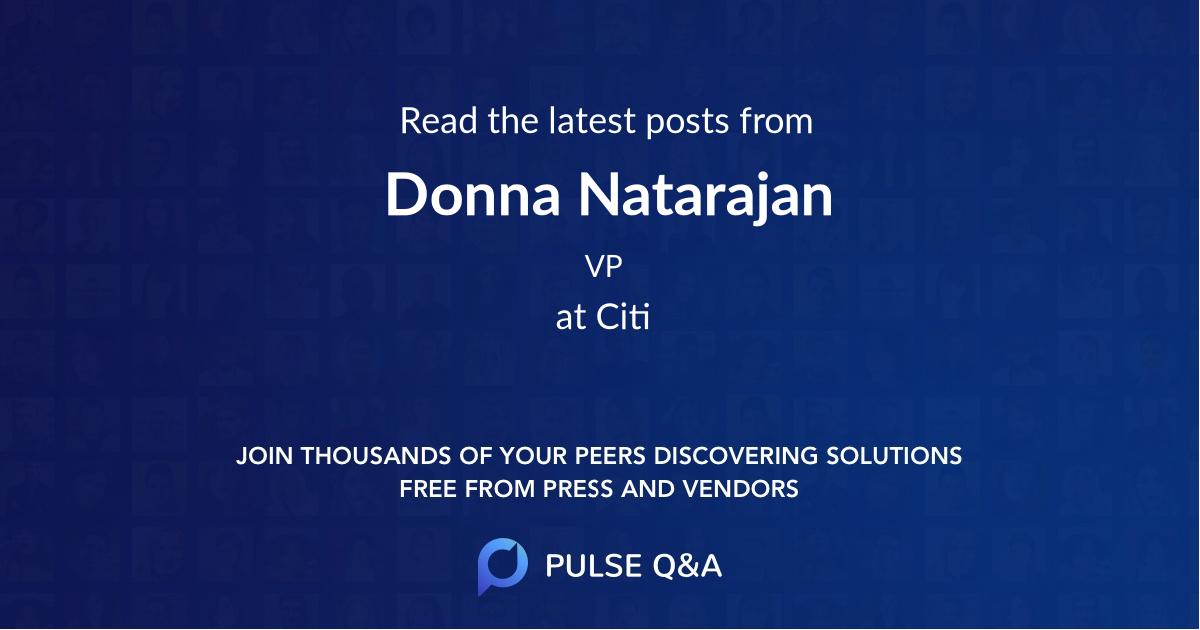 Donna Natarajan